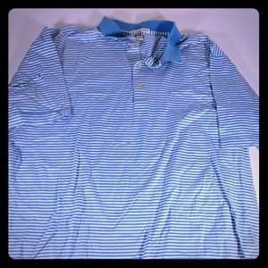 Peter Millar Polo Shirt Men Stripe Size XL